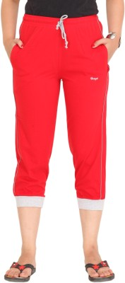 Colors & Blends Cl-101 Red Women's Red Capri