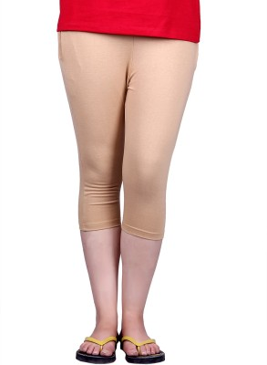 Kally Fashion Women's Beige Capri