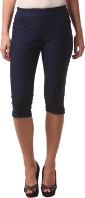 FashionExpo Women's Dark Blue Capri
