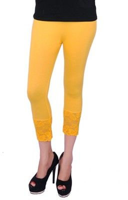 UrSense Fashion Women's Yellow Capri