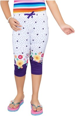 Mint Purple Cotton Jeggings-16 Baby Girl's Purple Capri