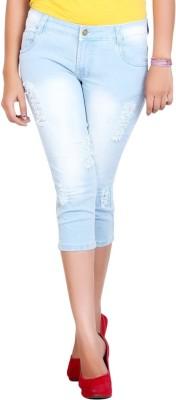 F Fashion Stylus Women's Light Blue Capri