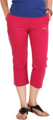 Colors & Blends Cl-102 Magenta Women's Pink Capri at flipkart