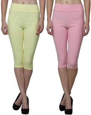 Both11 Women's Pink, Yellow Capri