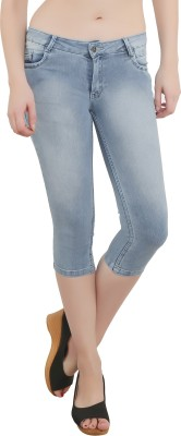 Bat Fashionable Women,s Dark Blue Capri