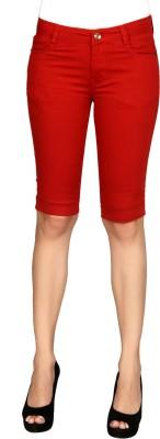 Sheenbottoms Women's Red Capri