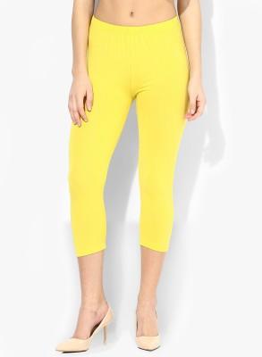 BanTiw Women's Yellow Capri