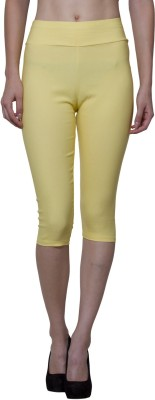 Both11 Fashion Women's Yellow Capri