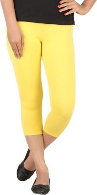 TECOT Women's Yellow Capri