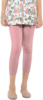 Go Colors Cotton Lycra Blend Girl's Pink Capri