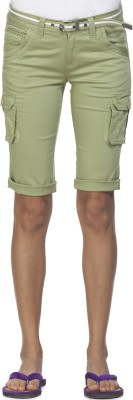 Ixia Women's Light Green Capri