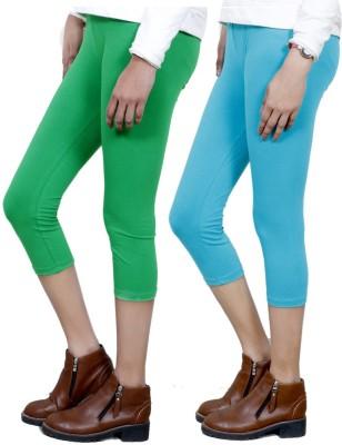 IndiStar Women's Green, Blue Capri