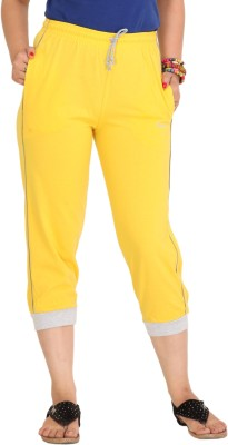 Colors & Blends Cl-101 Yellow Women's Yellow Capri at flipkart