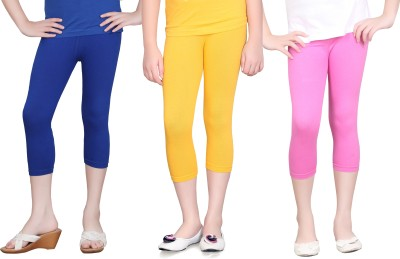 Sini Mini Girls Dark Blue, Yellow, Pink Capri