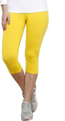 Softrose Women's Yellow Capri