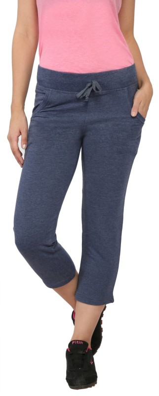 My Secret Comfortable Women's Blue Capri