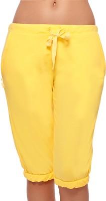 Coucou by Zivame Pro Women's Yellow Capri