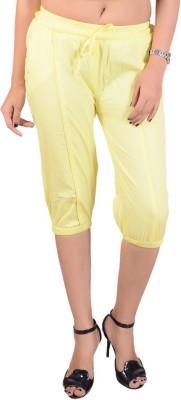 Goodgift Women's Yellow Capri