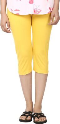 Amanda Solid Women's Yellow Running Shorts