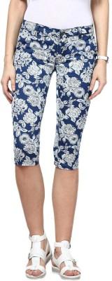 Upperclass Women's Blue Capri