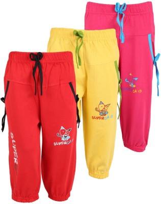 WEECARE Girl's Red, Pink, Yellow Capri