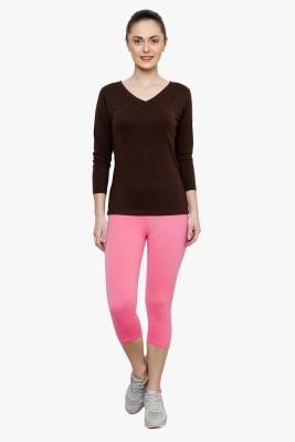 Softrose Women's Pink Capri