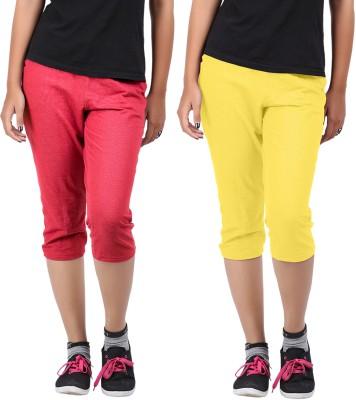 Hbhwear Women's Yellow Capri