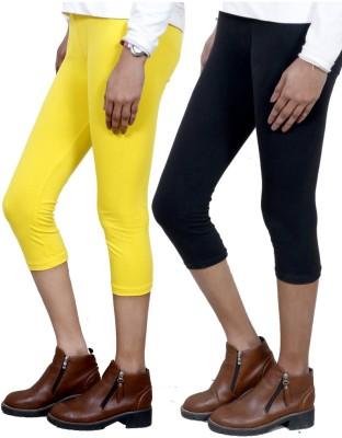 IndiStar Women's Yellow, Black Capri