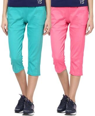 Softwear Rickshaw Women's Light Green, Pink Capri