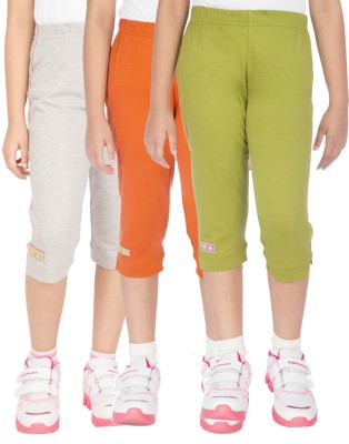 Ocean Race stylish Girl's Grey, Green, Orange Capri