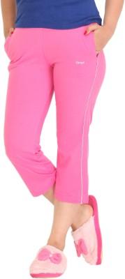 Colors & Blends Cl-102 Pink Women's Pink Capri