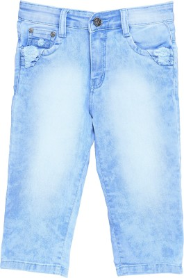 Bat Fashionable Girl,s Light Blue Capri