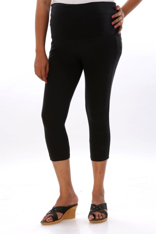 Ziva maternity wear Women's Black Capri
