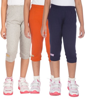 Ocean Race stylish Girl's Grey, Dark Blue, Orange Capri