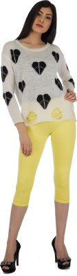 Legrisa Fashion Women's Yellow Capri