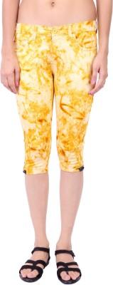 Fashion Cult Funky Women's Yellow Capri