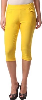 FashionExpo Women's Yellow Capri