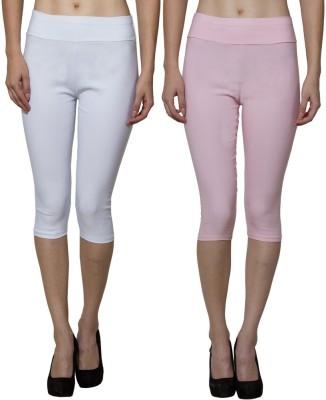 Both11 Women's Pink, White Capri