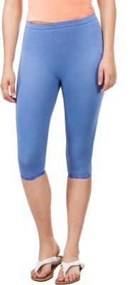 Le Bison Women's Blue Capri