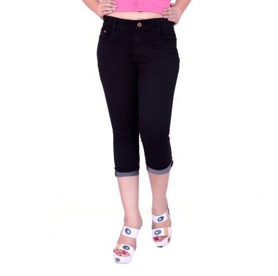 FCK-3 Fashion Women's Black Capri