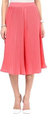 Uptownie Lite Pleat Me Right Culottes Women's Orange Capri at flipkart