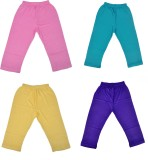 Perky Capri For Girls Solid Cotton (Purp...