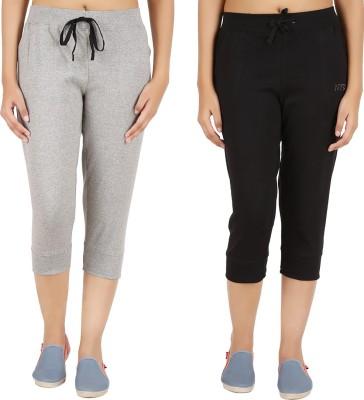 Notyetbyus Women's Grey, Black Capri