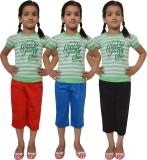 Shaun Capri For Girls Solid Cotton (Mult...