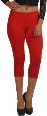 Frenchtrendz Women,s Red Capri