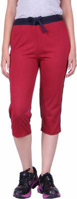 DFH Women's Red Capri