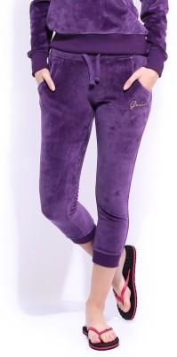 Dressberry Fashion Women's Purple Capri
