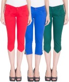 American-Elm Women's Multicolor Capri