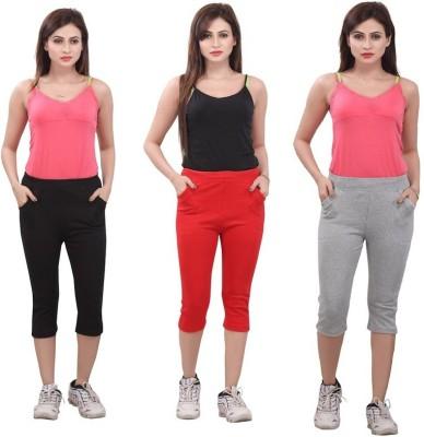 Bfly Women's Black, Red, Grey Capri