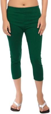 Comix Fashion Women's Green Capri
